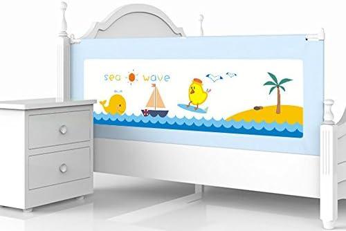 Valla seguridad infantil escalera Brisk- Barra De Cama para Niños Cerca De La Cama Elevadora Vertical Bebé Protección contra Caídas Big Bed Universal 150cm\180cm\200cm (Color : Blue-200cm): Amazon.es: Hogar