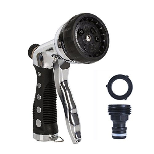 7 Bew/ässerungsmusterkontrollen robuster Metallspritzer Hochdruck-Schlauchd/üse Pistolengriff mit vorderen Ausl/öser