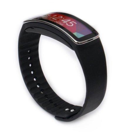 Woodln Ersatzband Armband Zubehör für Samsung Galaxy Gear fit R350 Smartwatch (Black)