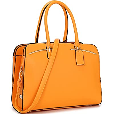 Multi Pocket Purse Satchel Large leather Handbag Triple Compartment Shoulder Strap