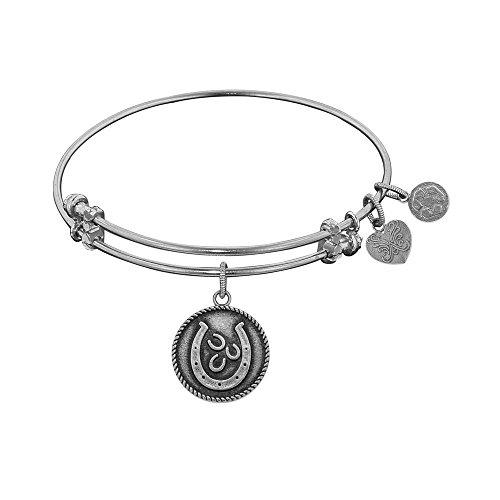 JewelryWeb Angelica Lucky Horseshoe Bangle Bracelet -  RCB319207