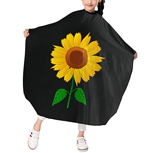 Sunflower Clipart Kid's Hair Shampoo Cape Haircut Hairdressing Cloth Apron Salon Styling Capes Cloth For Child