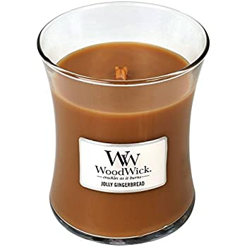 JOLLY GINGERBREAD - WoodWick 10oz Medium Jar Candle Burns 100 Hours