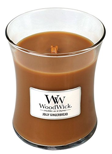 JOLLY GINGERBREAD - WoodWick 10oz Medium Jar Candle Burns 100 ()