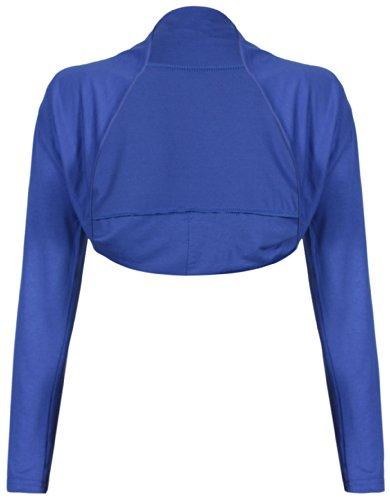 femme court bout extensible longues Uni cardigan manches long Purple bol haut ouvert femme Hanger P40FqxFnS