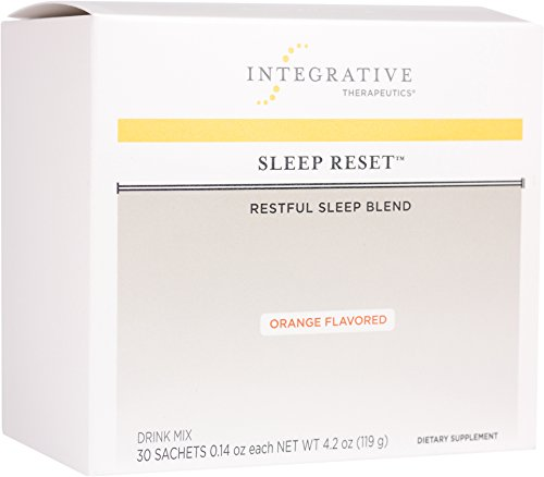 Integrative Therapeutics - Sleep Reset (Orange Flavor) - Restful Sleep Blend - NSF Certified for Sport - 30 Sachets