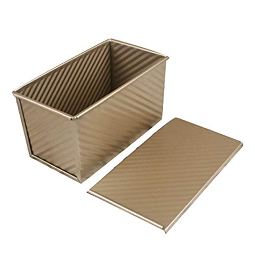 Loaf Pan Household rectangular gold corrugated lid toast box 450 g toast bread mold oven baking tool is not sticky