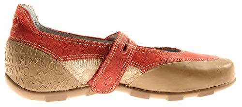 Plantare Scarpe Beige 2300 Pelle Cinturino Confortevole Intercambiabile Wolky Ballerine Donna Discoteca rosso q0wIfS
