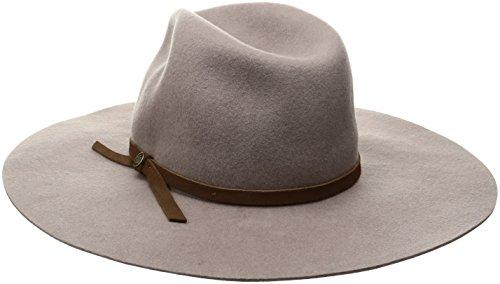 Goorin Bros. Women's Ms. Danke Wool Felt Wide Brim Fedora Hat, Taupe, Large