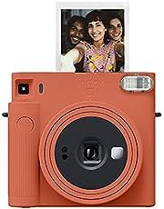 Fujifilm Instax SQUARE SQ1 Instant Film Camera, Terracotta Orange