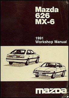 1991 Mazda 626 & MX-6 Repair Shop Manual Original