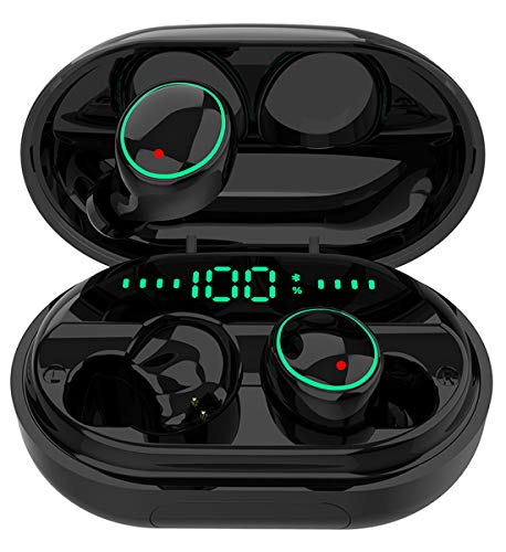 Bluetooth 5.0 Headphones Wireless Earbuds,IPX8 Waterproof Stereo Earbuds with Microphone, LED Battery Display 120H…