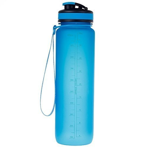 Uzspace Outdoor Hydration Frosted Tritan BPA Free Water Bottle With Flip Lid Ideal for the Gym, Car, Office, Outdoor, Yoga and much more!