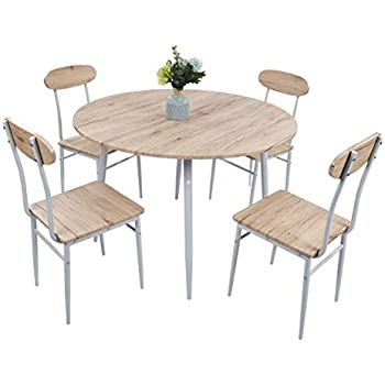 Amazon Com Dporticus 5 Piece Round Dining Set Country