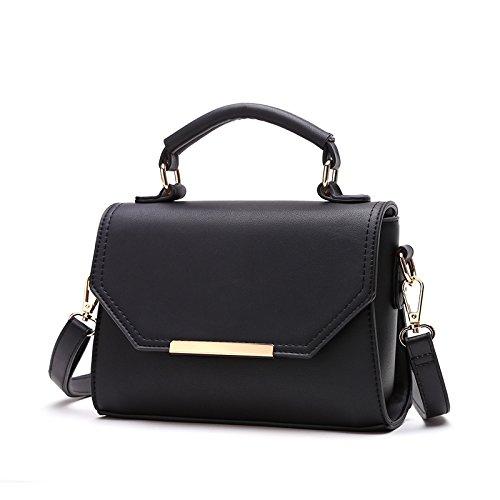 Las Solo Satchel Handbag Niñas GUANGMING77 Bolso Ash Alumnas black Bolso pFfw11xdq