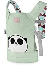 GAGAKU Dolls Carrier Front and Back Soft Cotton for Baby over 18 Months, Panda - Green