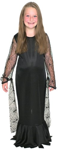 Amazoncom Addams Family Childs Morticia Addams Costume Black