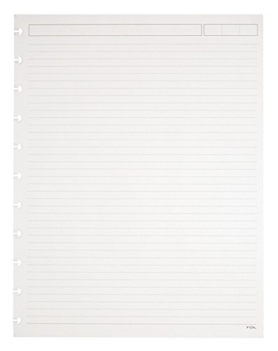 TUL Custom Note-Taking System Discbound Refill Pages, 81/2'' x 11'', Narrow Ruled, Letter Size, 3 packs of 50 Sheets each (150 sheets total), White