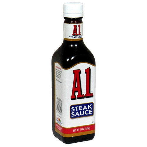 Amazon Com A1 Steak Sauce 15 Ounce Glass Bottles Pack Of 3 Steak Sauce Condiments Grocery Gourmet Food