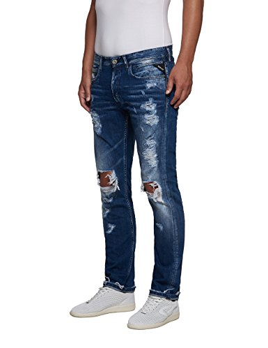 Blue Jeans Grover Azul Denim Destroyed Hombre REPLAY qI6wzC