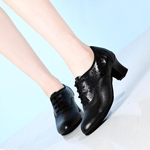 Rosso Nero Non Ballo Oxford Traspiranti sneakers Un scarpe Pelle Personalizzate In Scarpe Moderne Tacco Xue Lucide Leggera Stringate Personalizzabili estate Da Donna scarpe scarpe TqwB1H