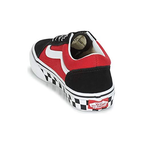 2019 Rosso P Nere logo Old Scarpe 191293 Pop e rosse Vans Skool Vn0a38hbvi71 wZ4z7FFq