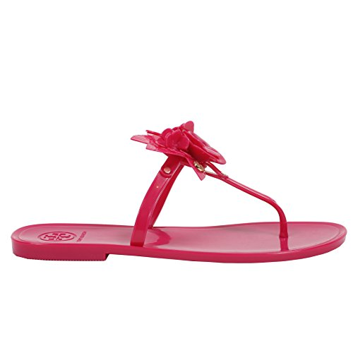 Tory Burch Blossom Thong Sandal Jelly Flip Flop Hibiscus Flower