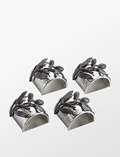 (Michael Aram Set Of 4 Olive Branch Classic Napkin Rings)