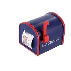 us mail box usps got stamps forever postage stamp holder dispenser 2 5 l x 2 0 h. Black Bedroom Furniture Sets. Home Design Ideas