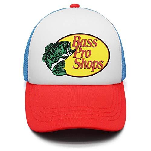 Bass-Pro-Shops-Fishing-Logo-Fashion Adjustable Mesh red Unisex Snapback Hat Caps