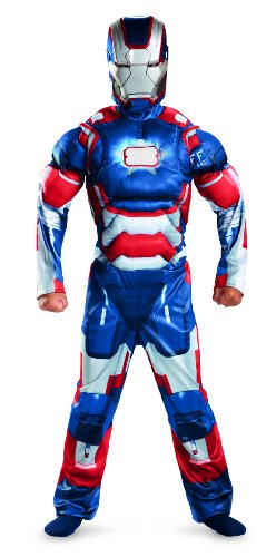 Child Muscle Iron Patriot Costumes (Marvel Iron Man 3 Patriot Boys Classic Muscle Costume, 10-12)