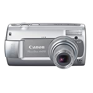 Canon PowerShot A470 7.1MP Digital Camera with 3.4x Optical Zoom (Gray)