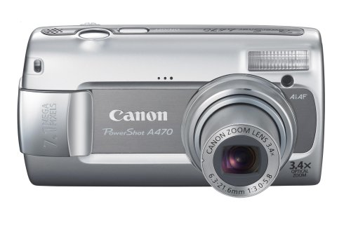 (Canon PowerShot A470 7.1MP Digital Camera with 3.4x Optical Zoom (Gray))