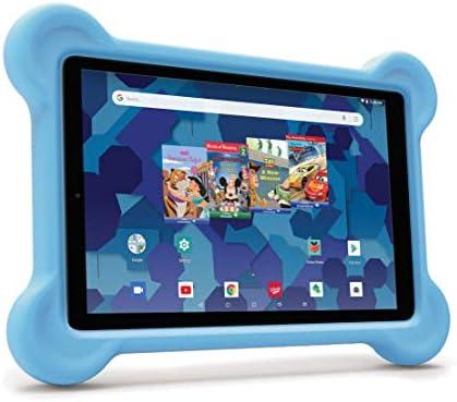 RCA Android Tablet Bundle (10″ Tablet, Audio Books, Bumper Case, Headphones) – Disney Edition (Blue)