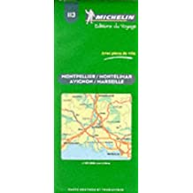Michelin Montpellier/Montelimar/Avignon/Marseille, France Map No. 113