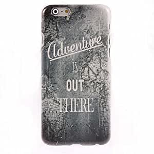 GJY Map Pattern Adventure is Out There Design Hard Case for iPhone 6 Plus