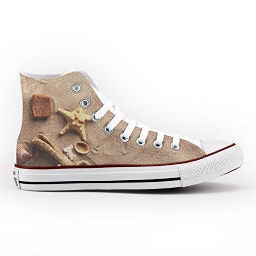 Converse All Star Personnalisé et Imprimés - chaussures à la main - produit Italien - Sand