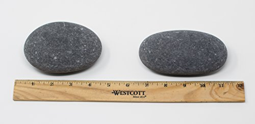 7 Large Painting Rocks (NOT from China) - Size 3 of 4.5 to 5.0 inches - Kindness Rocks for Painting - Very Smooth Surface - Easy to Paint - Premium BasaltCanvas Brand
