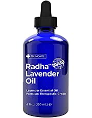 Radha Beauty Lavender Essential Oil 118mL - Natural & Therapeutic Grade, Steam Distilled for Aromatherapy, Relaxation, Sleep, Laundry, Meditation, Massage