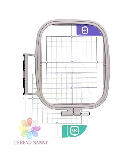 ThreadNanny SA444 7-inch x 5-inch Embroidery Hoop w/ Placement Grids for Brother PE-700, PE700II, PE-750D, PE-770, PE-780D, Innovis (Embroidery Hoops Brother Pe780d)
