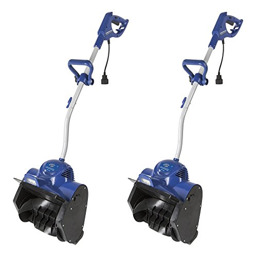 Snow Joe 11 Inch 10 Amp Motor Corded Electric Snow Shovel w Headlights (2 Pack) by Snow Joe