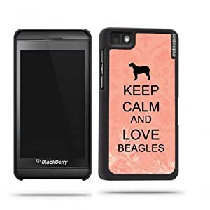 Keep Calm And Love Beagles Coral Floral Google Nexus 4 Case - For Nexus 4