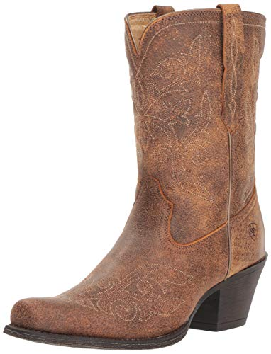 (Ariat Women's ROUND UP RYLAN Boot, vintage bomber, 8 B US)