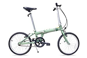 Allen Sports Downtown Aluminum 1 Speed Folding Bicycle, Green, 12-Inch/One Size by Allen Sports