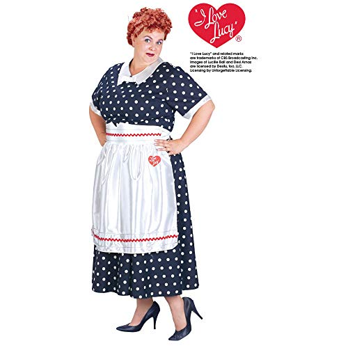 Lucy Poka Dot Dress Adult Costume - Plus Size -