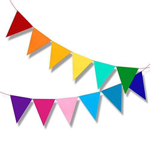 Multicolor Bunting Pennant Flags Banner Carnival Birthday Party Decorations -