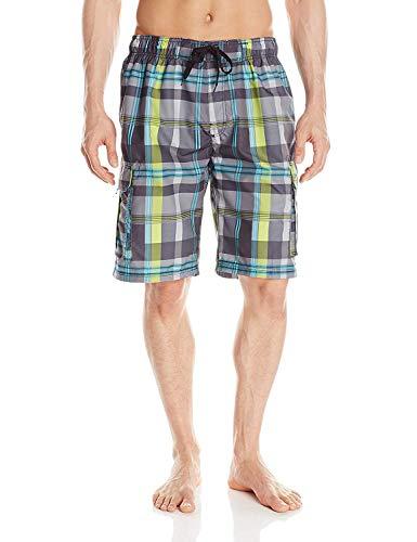 Kanu Surf Men's Miles Swim Trunks (Regular & Extended Sizes), Zuma Black, 3X