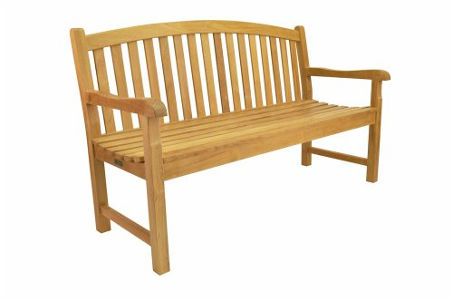 Anderson Teak BH-005R - No Cushion Chelsea 3-Seater Bench (Three Teak Bench Seater)