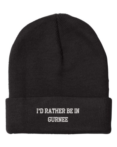 Fastasticdeal I'd Rather Be in Gurnee Il City Embroidered Beanie Cap (City Of Gurnee Il)