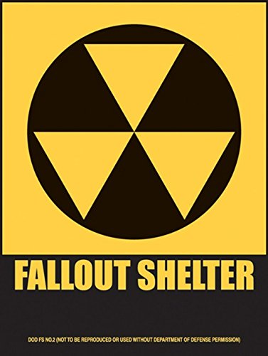 Fallout Shelter Metal Sign: Novelty Decor Wall Accent ()